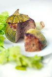 Carne enchida em volta do Zucchini Imagem de Stock Royalty Free