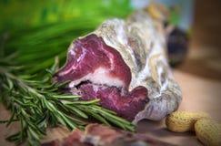 Carne francesa com alecrins Fotos de Stock