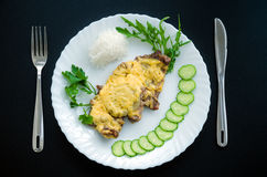 Carne in francese Immagini Stock