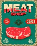 Carne fresca Carnicero Shop ilustración del vector