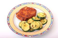 Carne fresca con el calabacín Imagenes de archivo