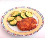 Carne fresca con lo zucchini Immagini Stock Libere da Diritti