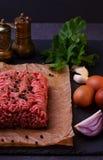 Carne fresca crua carne triturada Foto de Stock Royalty Free