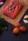 Carne fresca crua carne triturada Foto de Stock