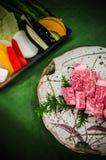 Carne fresca crua de Wagyu fotos de stock royalty free
