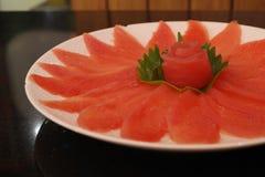 Carne fresca do atum Fotografia de Stock