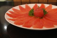 Carne fresca do atum Foto de Stock Royalty Free