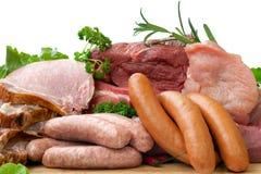 Carne fresca do carniceiro fotos de stock royalty free