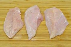 Carne fresca e limpa do peito de frango Gourmet, mantimento foto de stock