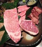Carne fresca japonesa do BBQ A5 imagens de stock royalty free