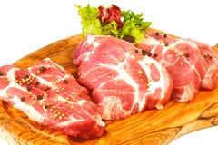Carne fresca na placa Foto de Stock Royalty Free