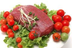 Carne fresca sin procesar de la carne de vaca Foto de archivo libre de regalías