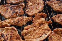Carne fresca sulla griglia Fotografia Stock Libera da Diritti