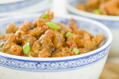 Carne friável chinesa Foto de Stock