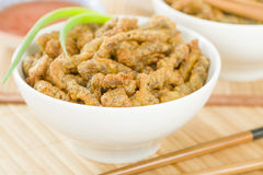 Carne friável chinesa Fotos de Stock