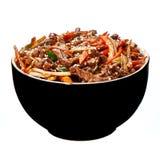 Carne friável com aipo e sésamo Fotografia de Stock