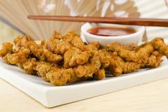 Carne friável fritada oriental Fotografia de Stock