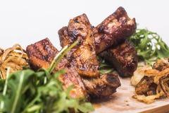 Carne frita con verdes Fotos de archivo