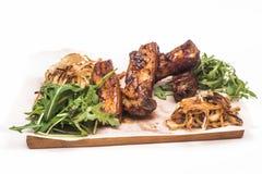 Carne frita con verdes Imagen de archivo