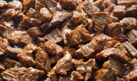 Carne fritada Fotografia de Stock