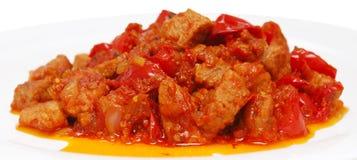 Carne fritada Imagens de Stock