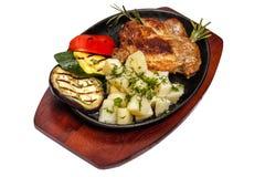 Carne fritada Fotos de Stock