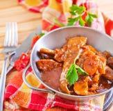 Carne fritada Fotografia de Stock Royalty Free
