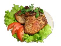 Carne fritada Imagem de Stock Royalty Free