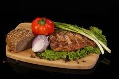 Carne fritada imagem de stock
