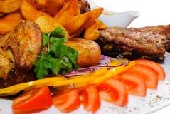 Carne fritada Assorted Fotos de Stock Royalty Free