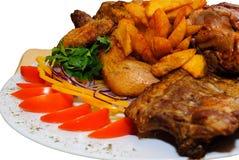 Carne fritada Assorted Imagens de Stock