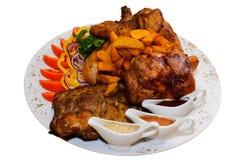 Carne fritada Assorted Fotos de Stock