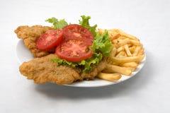 Carne fritada friável Imagens de Stock Royalty Free