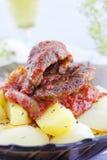 Carne fritta Immagini Stock