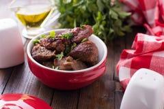 Carne fritta Immagine Stock