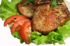 Carne fritta Fotografia Stock