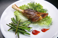 Carne fritta Fotografie Stock Libere da Diritti