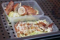 Carne fritta dell'alligatore Fotografie Stock Libere da Diritti
