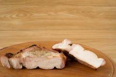 Carne fritta su una griglia Immagine Stock