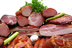 Carne fumada foto de archivo