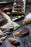 Carne fumada imagenes de archivo