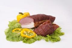 Carne fumada Fotografia de Stock