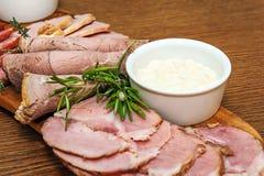 Carne fumada hecha en casa Fotografía de archivo libre de regalías