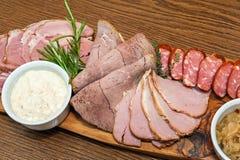Carne fumada hecha en casa Imagen de archivo libre de regalías