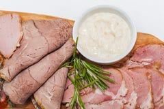 Carne fumada hecha en casa Foto de archivo libre de regalías