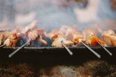 Carne fumado do BBQ Fotos de Stock Royalty Free