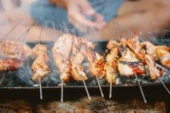 Carne fumado do BBQ imagens de stock royalty free