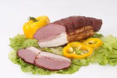 Carne fumado e vegetais Foto de Stock Royalty Free