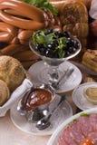 Carne fumado e vegetais Imagem de Stock Royalty Free