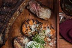 Carne grelhada Foto de Stock Royalty Free